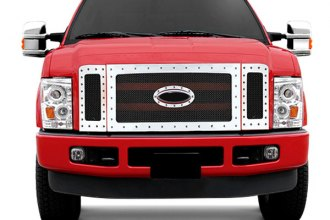RI® - Chrome Mesh Grille with Chrome Rivets