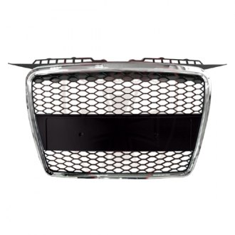 RI® - Matte Black Honeycomb Mesh Main Grille with Chrome Frame