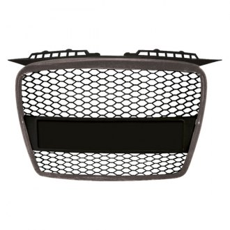 RI® - Matte Black Honeycomb Mesh Main Grille with Silver Frame