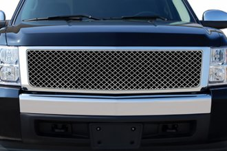 RI® 72R-CHSIL07-ZME - Bentley Style Chrome Mesh Grille Replacement