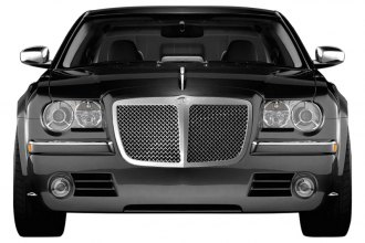RI® - Bentley Style Chrome Replacement Mesh Grille with Center Bar