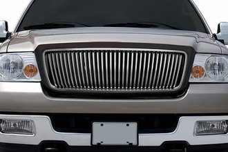 RI® - Vertical Style Black and Dark Chrome Replacement Grille
