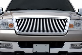 RI® - Thin Vertical Bar Style Chrome Grille Replacement