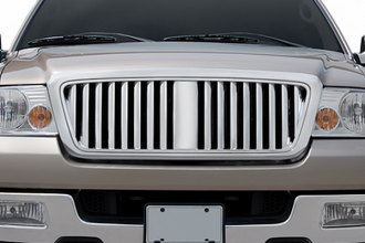 RI® - Vertical Style Chrome Grille Replacement with Big Center Bar