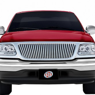 RI® - Chrome Thin Vertical Bar Style Billet Replacement Grille