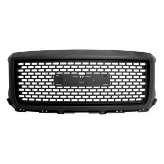 RI® - Denali Style Matte-Black Grille with Emblem Recess