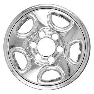 "RI® - 16"" 5 Flat Spokes Chrome Wheel Skins"