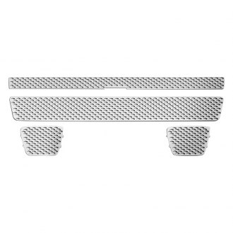 RI® - 2-Pc Chrome Punch-Diamond Main and Bumper Grille