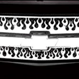 RI® - 1-Pc Flame Design Polished CNC Machined Main Grille