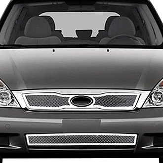 RI® - 3-Pc Perimeter Chrome Weave Mesh Main and Bumper Grille Kit