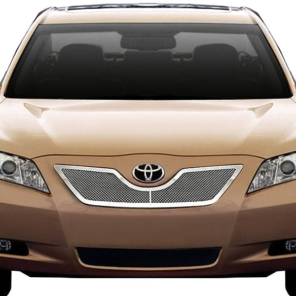 ri toyota camry 2008 2 pc perimeter chrome weave mesh grille. Black Bedroom Furniture Sets. Home Design Ideas