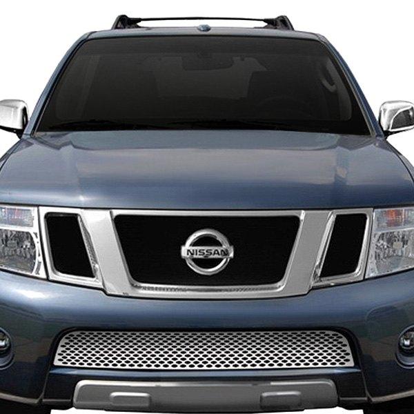 Ri Nissan Pathfinder 2008 3 Pc Perimeter Black Weave Mesh Grille