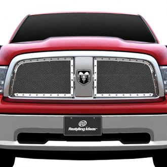 RI® - 2-Pc Perimeter Chrome Weave Mesh Main Grille