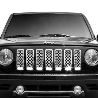 jeep patriot 2014 black. ri 7pc chrome billet main grille jeep patriot 2014 black