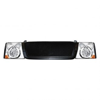 RI® - Range Rover Style Black Main Grille with Head Lamp