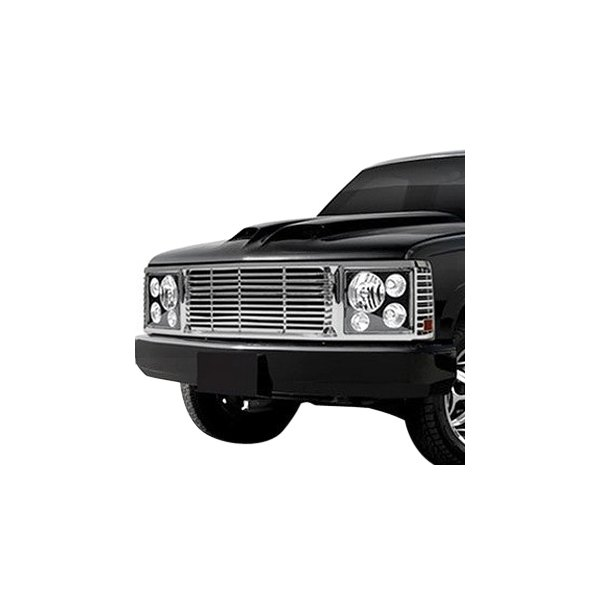 RI® - 1-Pc Range Rover Style Chrome Billet Main Grille
