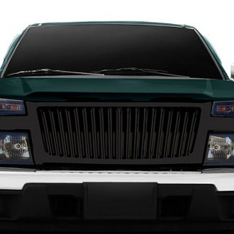 RI® - 1-Pc Gloss Black Thin Vertical Billet Grille