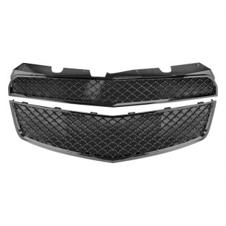 RI® - 2-Pc Bentley Style Black Mesh Main Grille