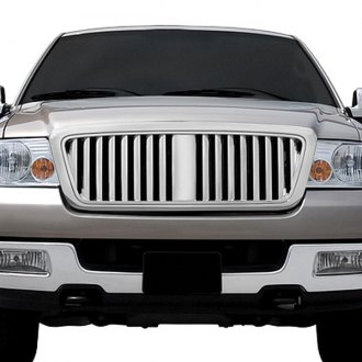RI® - 1-Pc Lincoln Mark LT Style Chrome Vertical Billet Main Grille