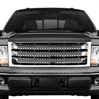 RI® - 1-Pc Range Rover Style Chrome CNC Machined Main Grille