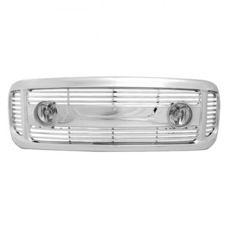 RI® - 1-Pc Chrome Horizontal Billet Main Grille with Lights