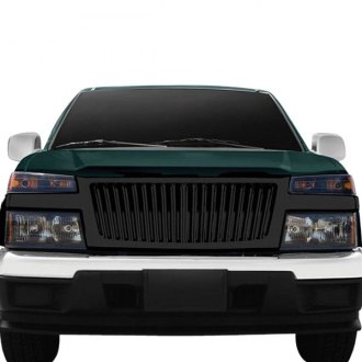 RI® - 1-Pc Shiny Black Thin Vertical Billet Main Grille