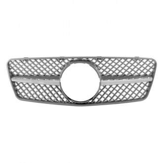 RI® - 1-Pc SL-R231 Style Silver/Chrome Mesh Main Grille