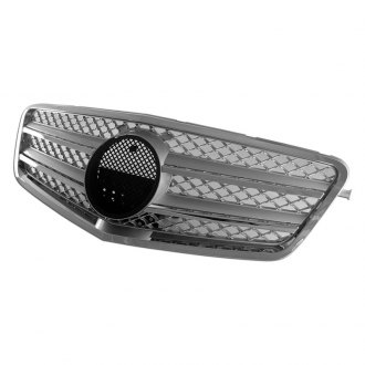 RI® - 1-Pc AMG Style Silver Mesh Main Grille