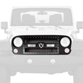 RI® - 1-Pc Black Weave Mesh Main Grille with 2 x 36W LED Lights