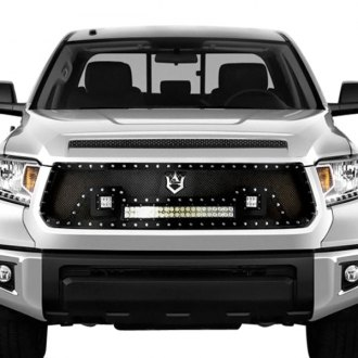 RI® - 1-Pc Black Weave Mesh Main Grille with 1 x 72W and 2 x 18W LED Lights