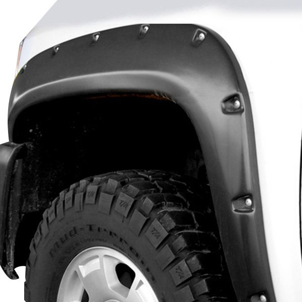 RI® - Super-Pocket Rivet / Bolt Style Smooth Black Front and Rear Fender Flares