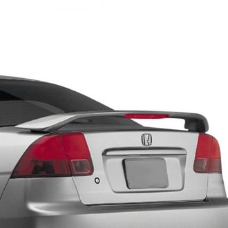 RI® - Custom Style Fiberglass Rear Spoiler with Light (Unpainted)