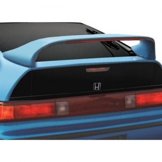 RI® - Mid-Wing Style Fiberglass Rear Spoiler with Light (Unpainted)