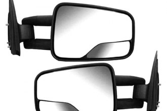 RI® - Driver and Passenger Side Black Manual Towing Mirrors