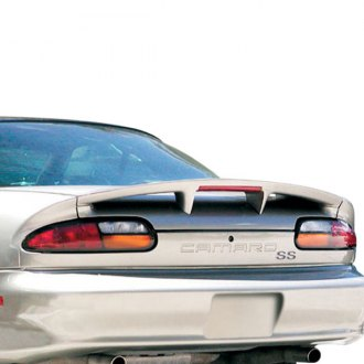 RI® - SS Style Fiberglass Rear Spoiler with Light (Unpainted)