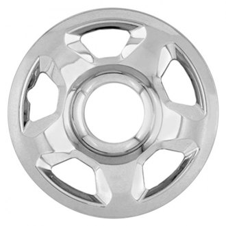"RI® - 17"" 5 Raised Spokes Chrome Wheel Skins"