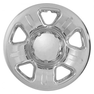 "RI® - 16"" 5 Dimpled Spokes Chrome Wheel Skins"