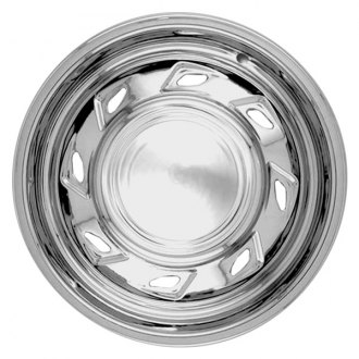 "RI® - 15"" 8-Directional-Triangle Chrome Wheel Skins"