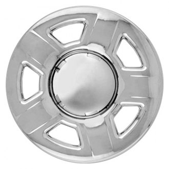 "RI® - 15"" 5 Dimpled Spokes Chrome Wheel Skins"