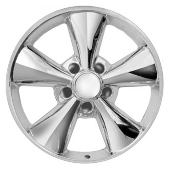 "RI® - 17"" 5 Flat Funnel Spokes Chrome Wheel Skins"