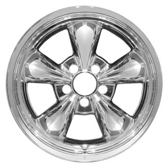 "RI® - 17"" 5 Funnel Spokes Chrome Wheel Skins"