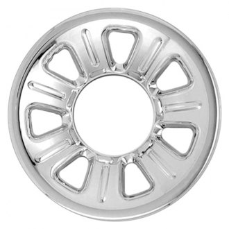 "RI® - 15"" 7 Dimpled Spokes Chrome Wheel Skins"
