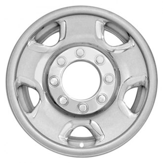 "RI® - 17"" 5 Flat Spokes Chrome Wheel Skins"