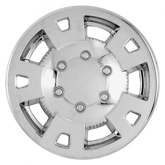 "RI® - 15"" 5 Flat Spokes Chrome Wheel Skins"