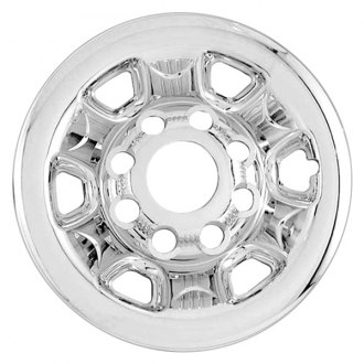"RI® - 16"" 6-Rounded-Triangle Chrome Wheel Skins"