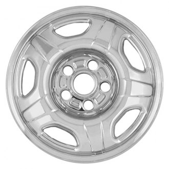"RI® - 16"" 5-Raised-Spoke Chrome Wheel Skins"