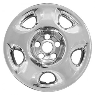 "RI® - 17"" 5-Rounded-Triangle Chrome Wheel Skins"