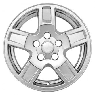 "RI® - 17"" 5 Indented Spokes Chrome Wheel Skins"