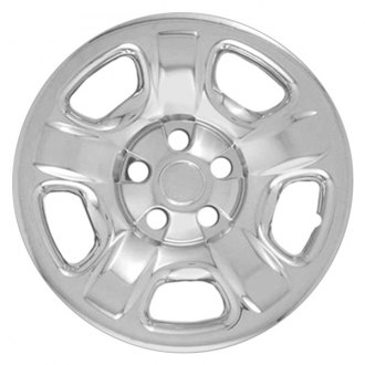 "RI® - 16"" 5 Raised Dimpled Spokes Chrome Wheel Skins"