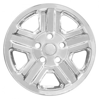 "RI® - 16"" 5 Indented Spokes Chrome Wheel Skins"